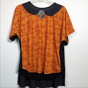 Disney Halloween L Orange Mickey Mouse T-Shirt